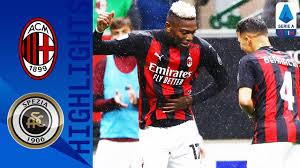 Mathematical prediction for spezia vs milan 13 february 2021. Milan 3 0 Spezia Milan Cruise To Victory Over Newly Promoted Spezia Serie A Tim Youtube