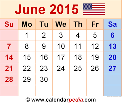 calendars monthly 2015 june 2015 calendars for word excel pdf