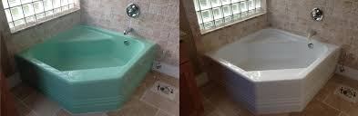 bathtub repair before and after photo