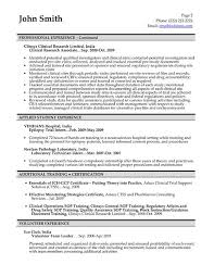Clinical Research Associate Resume Sample Free Resumes Tips