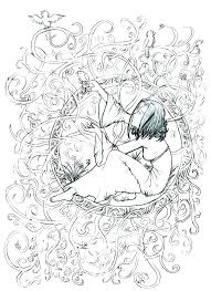 Gothic Coloring Page Coloring Pages Goth Fairy Coloring Pages For