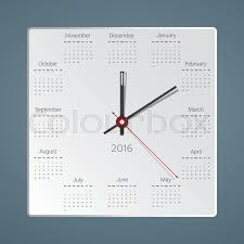 creative calendar. Modren Creative Creative Calendar For 2016 In The Form Of Hours Would Be Interested  Looking A Real Clock On Wall Vector Illustration  Stock Colourbox For Calendar