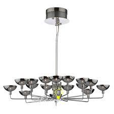 modern 14 smoke glass shades chandelier 8086