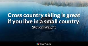 Steven Wright Quotes Stunning Cross Country Skiing Is Great If You Live In A Small Country