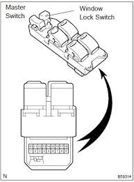 toyota corolla repair manual inspection power window control  at Wiring Diagram For 2002 Toyota Tacoma Eletric Window