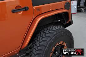 additionally the jk front crusher flare kit comes with a pair of rubber gaskets that isolates the fender from direct contact with the jeep paint and