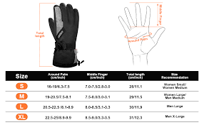 Five Gloves Size Chart Lanyi Winter Gloves For Men Women Thinsulate Waterproof Ski Thermal Gloves Snowboard Fleece Warm Snow Cold Weather Gloves