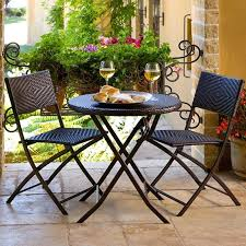 small outside table and chairs wicker bistro set rovigo small glass chrome dining room table and