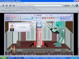 Anti bush flash game, Netscape, Yahoo messenger, Real player, XP, 1024x768  : nostalgia