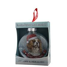 h h santa paws gl bauble cavalier king charles spaniel