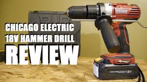 harbor freight hammer drill. harbor freight chicago electric 18 volt hammer drill review r