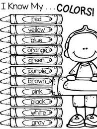Kindergarten coloring pages and worksheets are the perfect canvas for your budding artist! Color Words Freebie Preschool Worksheets Teaching Colors Preschool Learning