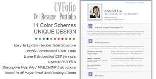 resume folio cv folio resume portfolio email newsletter by bedros responsive