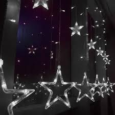 cool white 2m 138 led curtain star string fairy light