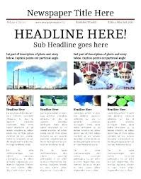 Microsoft Newspaper Template Free Newspaper Template For Word In Editable Free Templates
