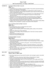 System Support Analyst Resume Samples Velvet Jobs