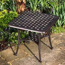sandra square metal garden coffee table