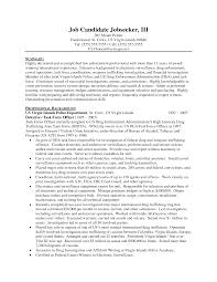 Resume Sample Letters For Law Enforcement With Profesional