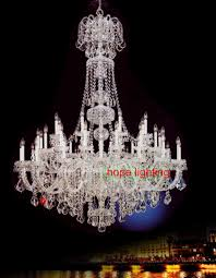 large chandelier crystals empire crystal lighting chandeliers bohemian for hotel lobby k large size