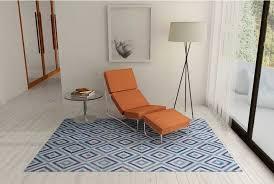 blue diamond patchwork cowhide rug
