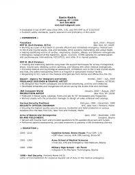 Emt Paramedic Resume Sample Emt Sample Resume Templates Template Emt