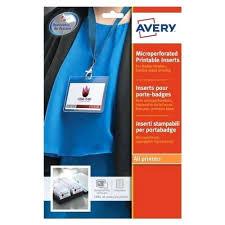 Avery Badges Laser Name Badge Refill White Pack Of 8395 Self