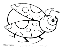 insect coloring pages for kindergarten bug page bugs life lady lovable l toddlers colouring free printable