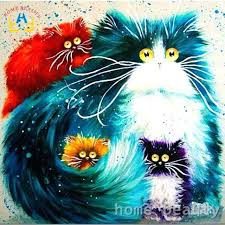 terrific acrylic canvas painting oil painting by numbers abstract acrylic paint animal color cats decorative canvas terrific acrylic canvas painting