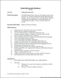 Unit Clerk Job Description For Resume Hospital Unit Clerk Salary