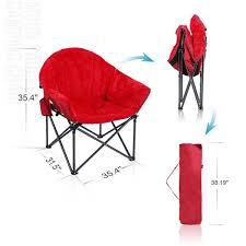 alpha camp folding oversized padded plush moon saucer chair