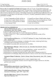 Army Resume Example Foodcity Me