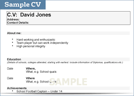 resume college student sample 8 how to write a cv for college student applicationsformat info