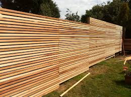 Wooden Privacy Fence Panels Stripes