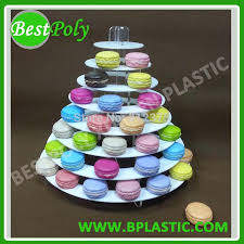 French Macaron Display Stand Cool 32 Set 32 Tiers Acrylic Macaron Tower Rigid Macaron Display Stand