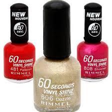 Rimmel London 60 Seconds Nail Polish All Shades Reviews
