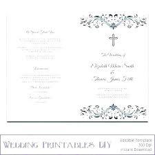 Catholic Wedding Ceremony Program Templates Ceremony Booklet Template Ideas Catholic Wedding Ceremony Program