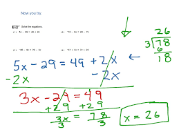 worksheet solving equations with variables on both sides