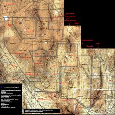 Military Air Chart Of The Nellis Ranges