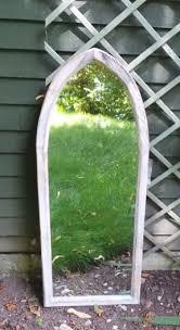 st johns gothic wooden garden mirror