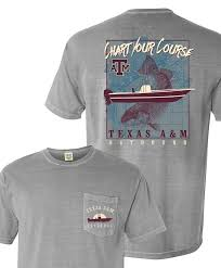 Comfort Colors Shirt Size Chart Texas A M Aggies Chart Your Course Plus Size Pocket