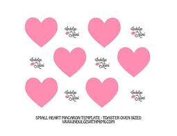 Macaron Guide Sheet Valentines Day Macaron Projects Templates