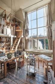 painting studio lighting. Rue Du Tambour: Fantastic Workspaces. Artist Studios Power. Love The Room,  Especially Three Tiered Window Treatment. Painting Studio Lighting N