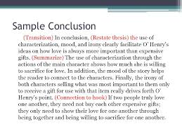 the literary analysis essay using the gift of the magi by o henry  15 sample conclusion