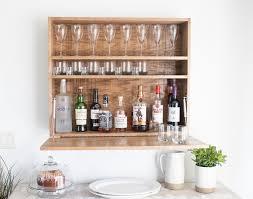 diy wall mounted bar cabinet