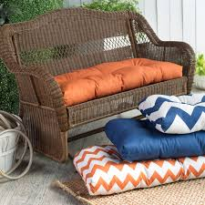 Cushions Padded Bench Cushion Wicker Settee Cushions