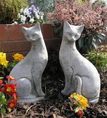 cat garden statue. Image Of Pair Siamese Cats Garden Ornaments Cat Statue R