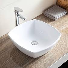 Mecor Bathroom Ceramic Vessel Vanity Sink Bowl White Porcelain Basin  Counter Top U0026 Pop Up Drain Sink Bowls On Top Of Vanity O66