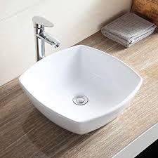 Mecor Bathroom Ceramic Vessel Vanity Sink Bowl White Porcelain Basin  Counter Top U0026 Pop Up Drain Sink Bowls On Top Of Vanity O66
