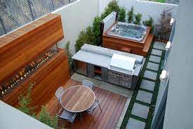 patios with hot tubs