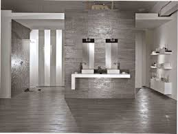 Small Picture Varnished Gray Wood Floor Tile With Gray Ceramics Wall Tile And
